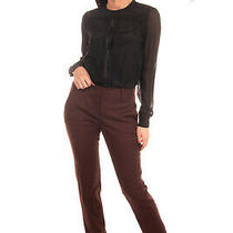 Rrp 340 M Missoni Flat Front Trousers Size 42 / M Wool Blend Stretch Brown Photo