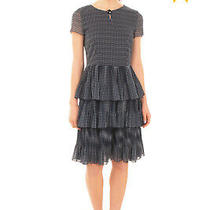Rrp 370 Armani Collezioni Tiered Dress Size 38 / Xs Patterned Made in Italy Photo