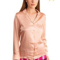 Rrp 385 Stella Mccartney Pyjama Top Size S Silk Blend Star Pattern Long Sleeve Photo