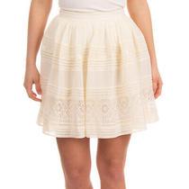 Rrp 405 Alice by Temperley Boho Skirt Size Uk 14 Ivory Gathered Lace Trim Photo