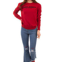 Rrp 405 Red Valentino Jumper Size M Cashmere Angora & Wool Blend Crew Neck Photo