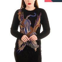 Rrp 4090 Balmain Jumper Size 38 / M Angora & Wool Blend Handmade Embroidery Photo