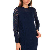 Rrp 425 M Missoni Knitted Shift Dress Size 38 / Xs Tulle Base Long Sleeve Photo
