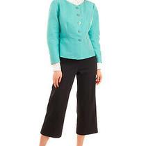 Rrp 460 Armani Collezioni Blazer Jacket Size 48 / Xxl 3/4 Sleeve Scoop Neck Photo