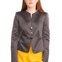 Rrp 490 Armani Collezioni Satin Blazer Jacket Size 44 / L Grey Made in Italy Photo