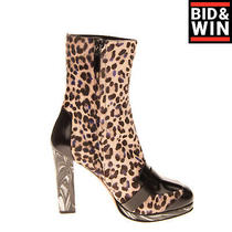 Rrp 510 Missoni Calf Hair Ankle Boots Eu41 Uk8 Us11 Marble Heel Leopard Pattern Photo