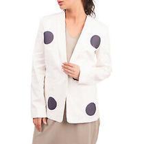 Rrp 520 Emporio Armani Twill Blazer Jacket Size 38 / Xs Distressed Patched Photo