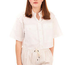 Rrp 530 Moschino Couture Boxy Shirt Size 40 / S White Cropped Made in Italy Photo