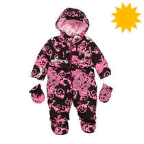 Rrp 535 Young Versace Down Snowsuit Size 12m Removable Mittens & Feet Covers Photo