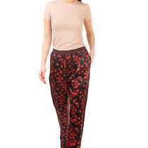 Rrp 590 Givenchy Silk Trousers Size 36 / Xs Floral Split Cuffs Made in Italy Photo