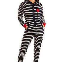 Rrp 595 Chinti and Parker Cashmere Jumpsuit Size S Striped Intarsia Heart Photo