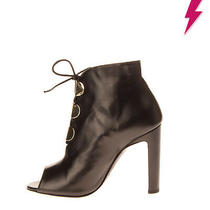 Rrp 600 Emporio Armani Leather Ankle Boot Right Shoe Only Size 38 Uk 5 Us 8 Photo
