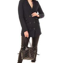 Rrp 640 Emporio Armani Blazer Jacket Size 40 / S Padded Pinstriped Peak Lapel Photo