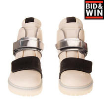 Rrp 645 Rick Owens X Birkenstock Leather Ankle Boots Size 44 Uk 9.5 Us 11 Logo Photo