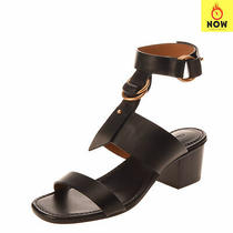 Rrp 650 Chloe Leather Ankle Strap Sandals Eu 36 Uk 3 Us 6 Heel Made in Italy Photo