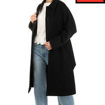 Rrp 680 Armani Collezioni Coat Size 38 / Xs Belted Collared Made in Italy Photo