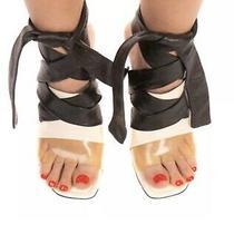 Rrp 690 Balenciaga Leather Ankle Strap Sandals Size Us-8 Eu-38 Transparent Photo