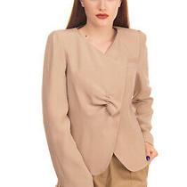 Rrp 780 Armani Collezioni Wrap Blazer Jacket Size 52 / 3xl Silk Blend Ruched  Photo