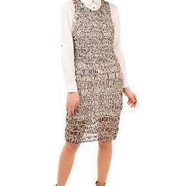 Rrp 795 Mcq Alexander Mcqueen Open Knit Vest Dress Size M Unlined Crew Neck Photo