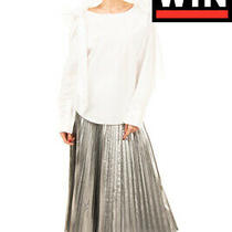 Rrp 855 Chloe Poplin Top Blouse Size 36 / S White Tie Shoulders Long Sleeve Photo