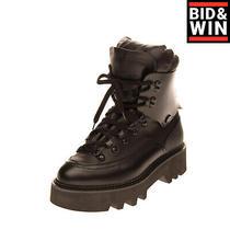 Rrp 985 Dsquared2 Leather Hiking Boots Size 38 Uk 5 Us 8 Padded Vibram Lug Sole Photo