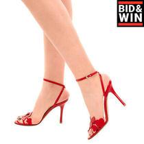 Rrp1110 Valentino Garavani l'amore Leather Sandals Eu 37.5 Uk 4.5 Us 7.5 Hearts Photo