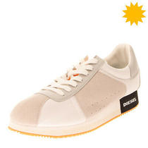 Rrp120 Diesel S-Pyavelc Sneakers eu42.5 uk9.5 Us12 Contrast Leather Perforated Photo