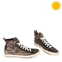 Rrp140 Diesel Exposure I Denim Sneakers Eu 42.5 Uk 8.5 Us 9.5 Worn & Dirty Look Photo