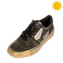 Rrp150 Diesel S-Flip Low W Canvas Sneakers eu42.5 uk8.5 us9.5 Worn Dirty Look Photo