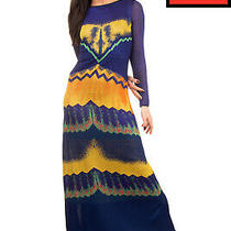 Rrp1515 Missoni Maxi Dress Size 40 / S Knitted Patterned Double Layer Boat Neck Photo