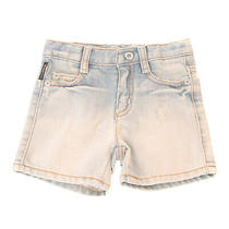 Rrp155 Armani Baby Denim Shorts Size 6m 62cm Distressed Faded Worn Look Zip Fly Photo