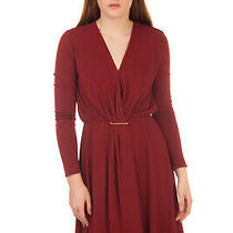 Rrp1560 Lanvin Blouson Dress Size 38 / M Gathered Unlined v Neck Made in France Photo