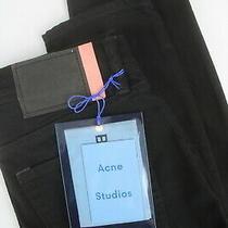 Rrp180 Acne Studios Climb Stay Black Women W24/l32 Bla Konst Skinny Jeans 6485 Photo