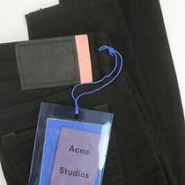 Rrp180 Acne Studios Climb Stay Black Women W24/l32 Bla Konst Skinny Jeans 6341 Photo