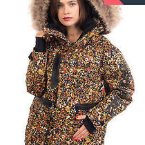 Rrp1800 Dsquared2 Ski Down Parka Jacket Size 38 / Xs Floral Raccoon Fur Trim Photo