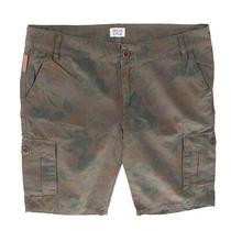 Rrp185 Armani Junior Cargo Style Shorts Size 9y 136cm Garment Dye Floral Print Photo