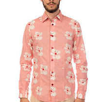 Rrp190 Armani Jeans Shirt Size S Floral & Polka Dot Long Sleeve Regular Slim Photo
