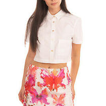 Rrp250 See by Chloe Silk Mini Skirt Size 40 Xs Lace-Up Sides Butterflies Print Photo