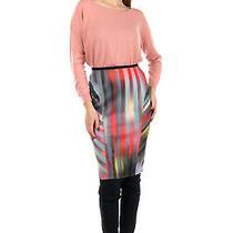 Rrp280 Elie Tahari Pencil Skirt Size 4 S Reversible Patterned Elasticated Waist Photo