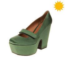 Rrp320 Emporio Armani Satin Mary Jane Shoes Eu 40 Uk 7 Us 10 Heel Made in Italy Photo
