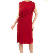 Rrp360 Mm6 Maison Margiela Shift Dress Size 40 / S Draped Unlined Made in Italy Photo