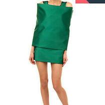 Rrp4260 Balenciaga Satin Mini Wrap Dress Size 38 / S Silk Lined Made in France Photo