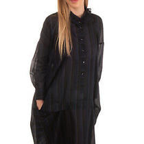 Rrp465 High by Claire Campbell Lagenlook Shirt Dress Size 40 Silk Blend Striped Photo