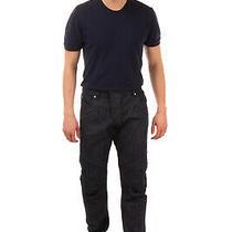 Rrp575 Pierre Balmain Biker Style Jeans Size 40 Dark Wash Zip Fly Made in Italy Photo