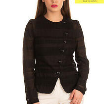 Rrp625 Emporio Armani Blazer Jacket Size 42 / M Black See Through Made in Italy Photo