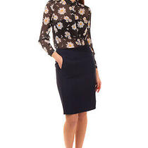 Rrp725 Versace Silk Pencil Skirt Size 42 / M Textured Asymmetric Made in Italy Photo