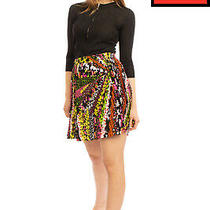 Rrp925 Versace Silk Crepe Pleated Skirt Size 38 Xs Floral Zipped Made in Italy Photo
