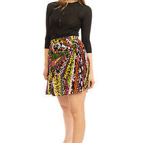 Rrp925 Versace Silk Crepe Pleated Skirt Size 42 / M Floral Zipped Made in Italy Photo