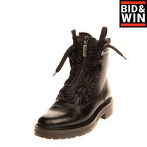 Rrp950 Saint Laurent William Leather Combat Boots Eu 37 Uk 4 Us 7 Made in Italy Photo