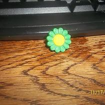 Rubber Croc Shoe Bracelet Charm Green Yellow Flower Daisy Photo